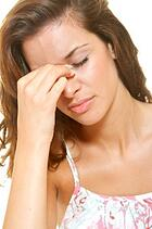 Chronic Sinusitis Woman Suffering