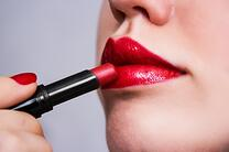 makes up lips with red lipstick | Boca raton, FL
