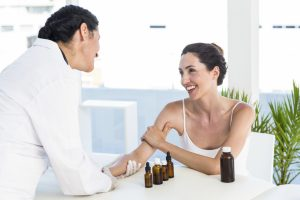 Patient Receives Sublingual Allergy Drops from Sinus Doctor for Allergy Control