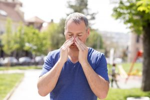 Patient Receives Pills from Sinus Doctor for Allergy Control